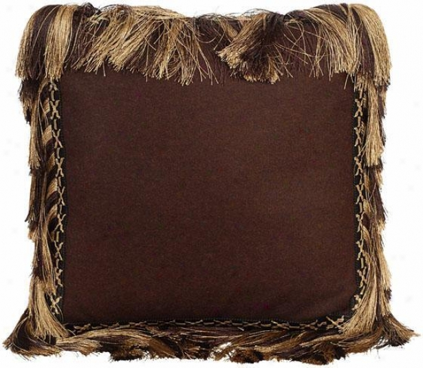 """""""brianna Pillow - 19"""""""" Square, Chocolate Brown"""""""