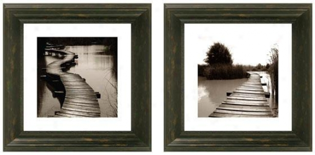 Bridging The Gap Framed Wall Art - Set Of 2 - Set Of Two, Murky