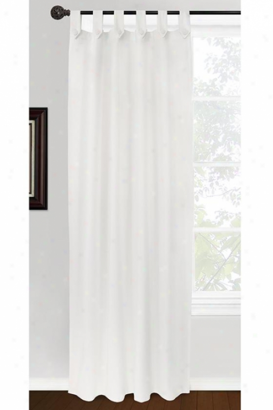 Brighton Curtain Panel - 400hhx84w, White