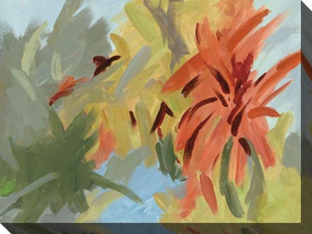 Bromeliad Essence Ii Canvas Wall Art - Ii, Blue