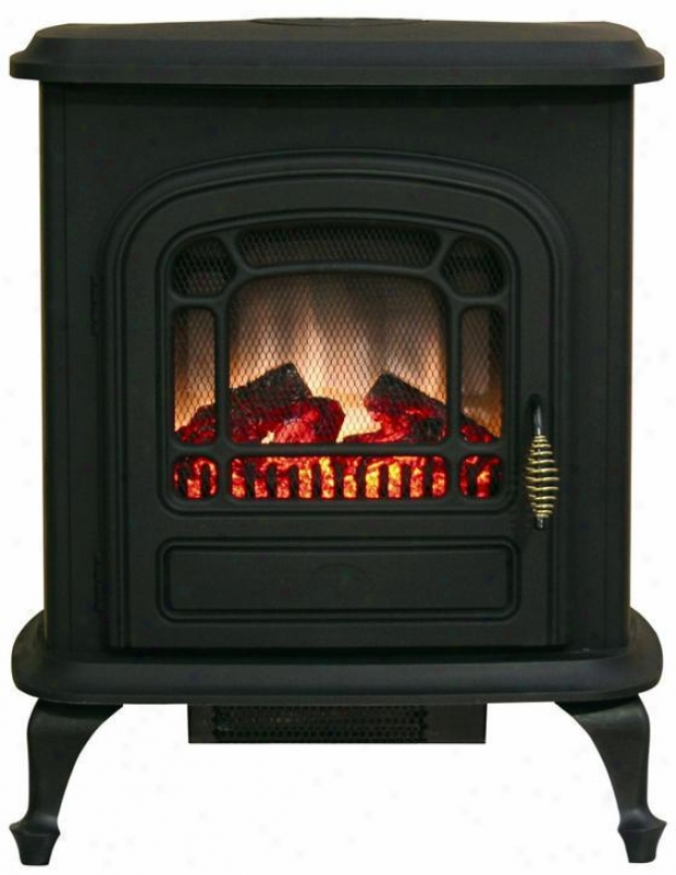 Brooke Marked by ~ity Stove Fireplace - Metal, Black