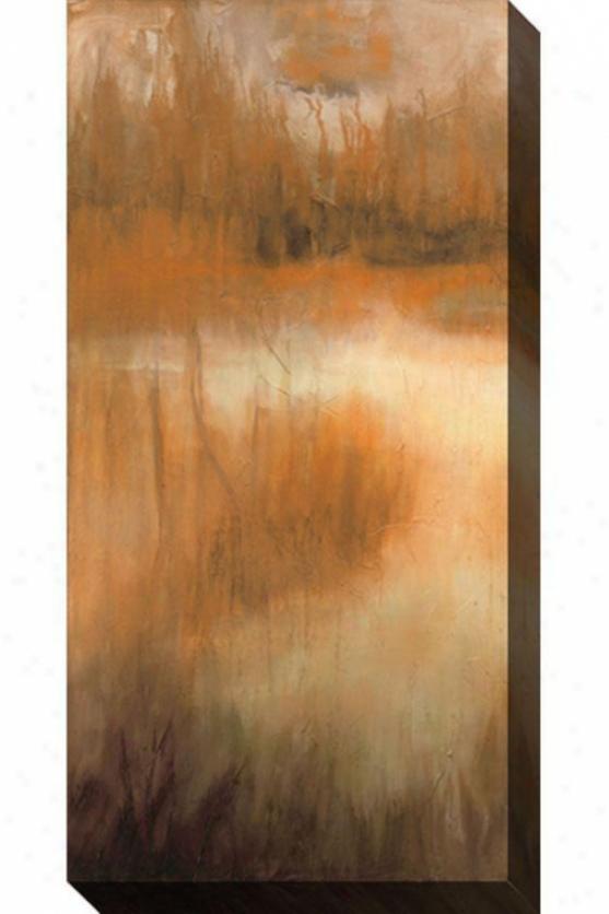 Brownwood Path Ii Canvas Wall Art - Ii, Tan/rust