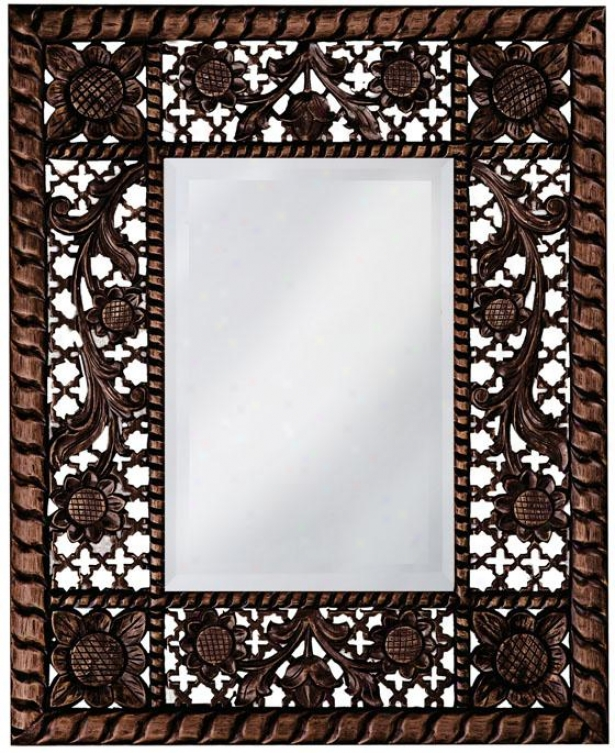 """buckhead Antique Mirror - 29""""hx23""""wx1""""d, Antq Faux Oak"""