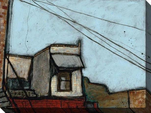 Buildingx Iii Canvas Wall Trade - Iii, Blue
