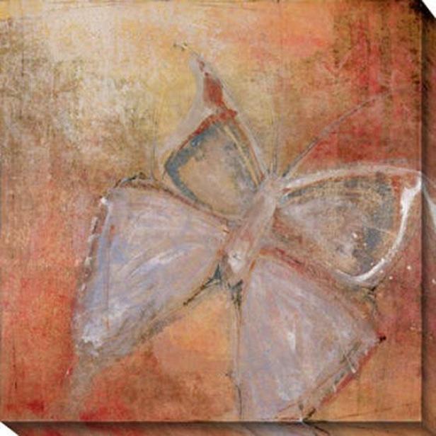 """butterfly Canvas Wall Art - 40""""hx40""""w, Pink"""
