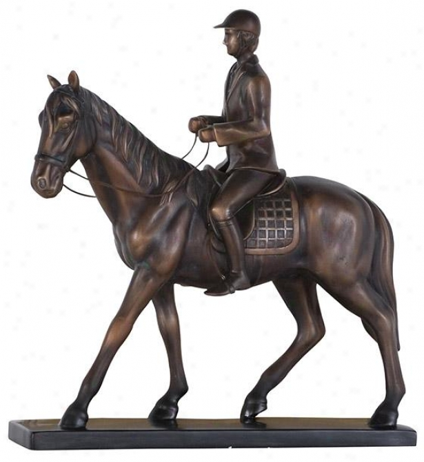 """cabalo Statue - 14h X 15w X 4""""d, Bronze"""