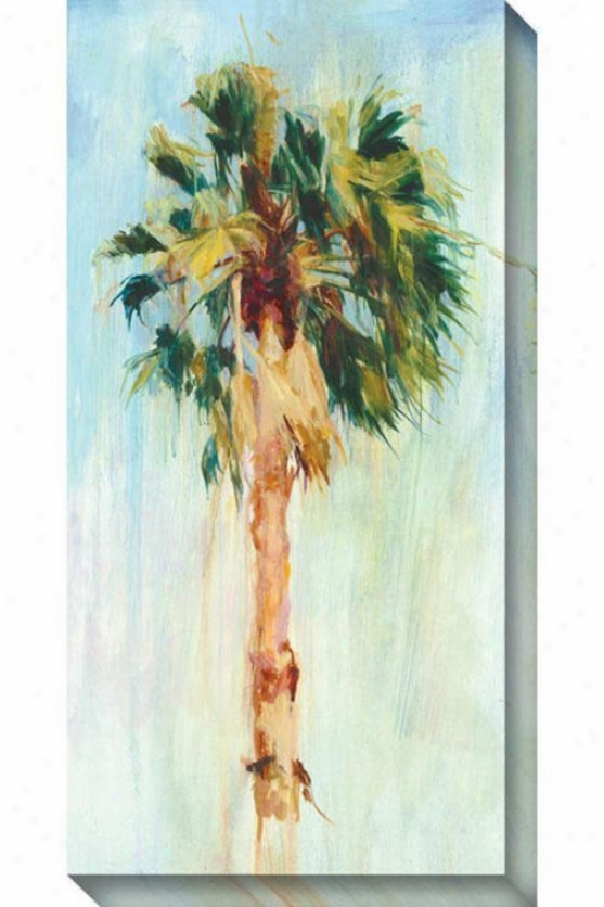 Cabbage Palm I Canvas Wall Art - I, Blue