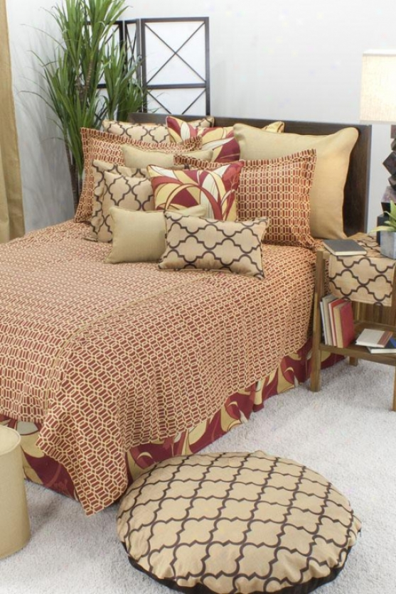 Callaway Collection Bedding - Bedskirt Queen, Fawle Ruby