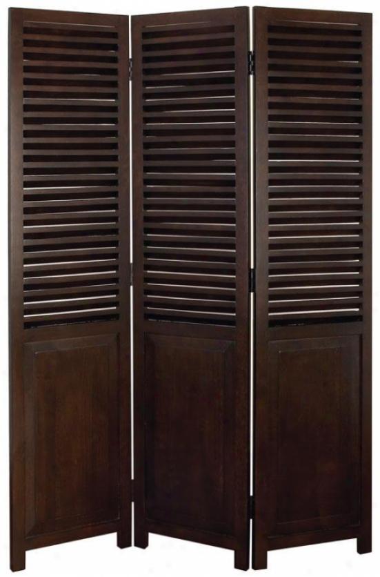"""callum Screen - 69""""hx48""""wx1""""d, Brown"""