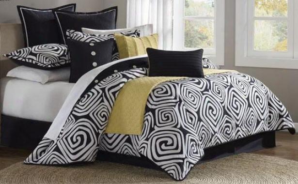 Calypso Ii Comforter Set - King 10pc Set, Black
