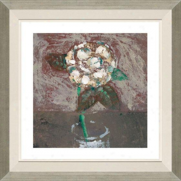 """camellia Framed Wall Trade - 29""""hx29""""w, Floated Silver"""