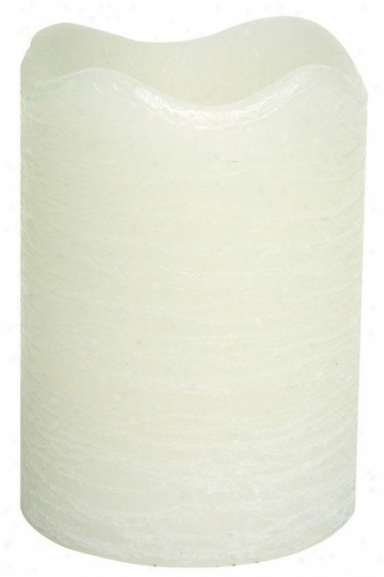 """candle Impressions Rustic Pillar Led Taper - 4""""h, White"""