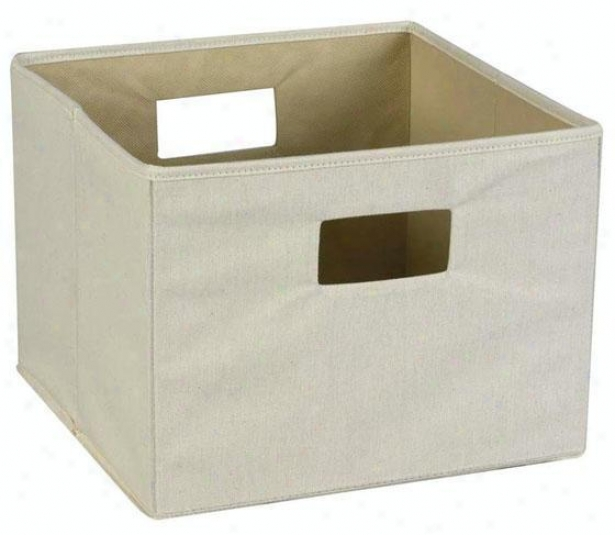 """canvas Handled Storage Bin - 10""""hx13""""sq, Ivory"""