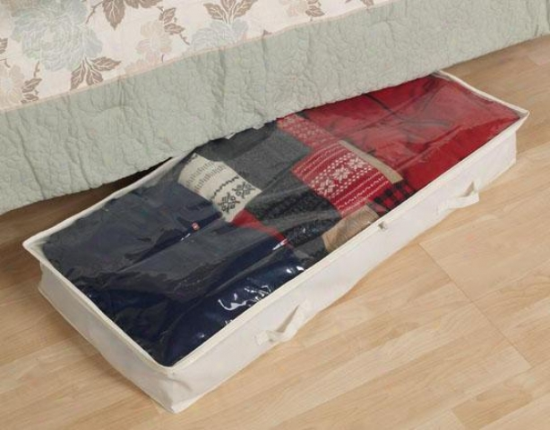 """canvas Underbed Storage Bag - 6""""hhx41""""w,_Ivory"""