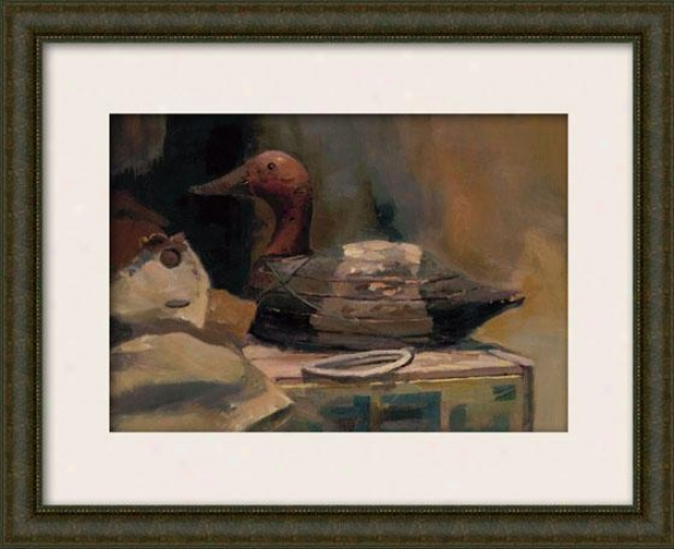 """canvasback Framed Wall Art - 29""""hx33""""w, Mattec Burlwood"""