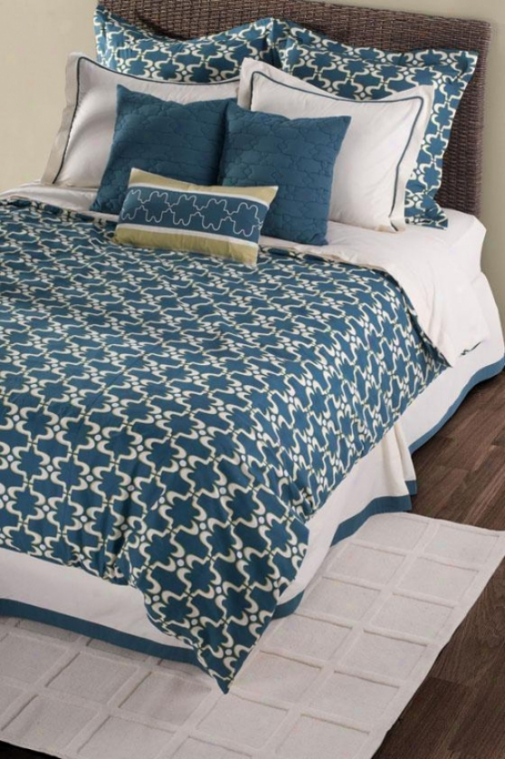 Cape Carley Bedding Set - Queen, Peacock Blue