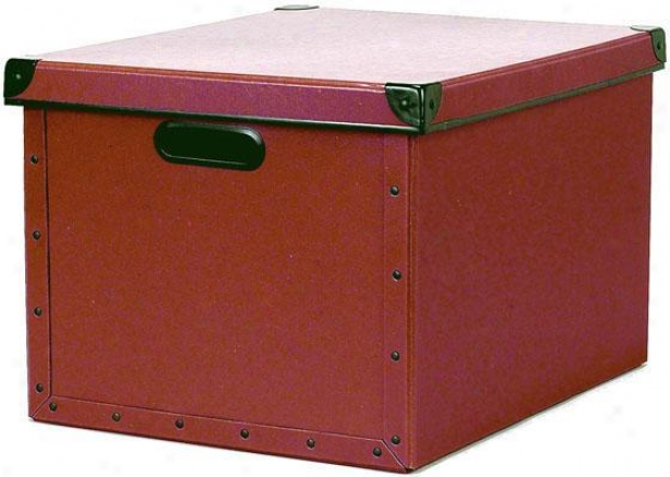 """cargo Naturals Dual File Box - 10.25""""hx12.5""""w, Red"""