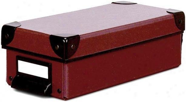 """cargo Naturals Paint Box - 3""""hx4.5""""w, Red"""