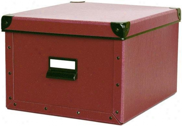 """cargo Narurals Shelf Box - 7.75""""hx10.5""""w, Red"""