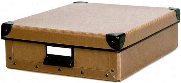 """cargo Naturals Stationery Box - 3.75""""hx10.5""""w, Wheat"""