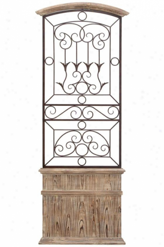 Cater Gate Wall Art - 56hx21w, Brown