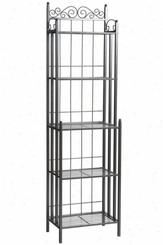 Celtic Metal Baker's Rack - 69.25hx19.5w, Gray