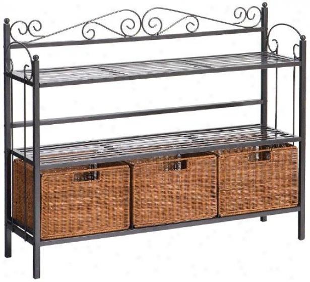 Celtic Storage Shelf - 32.25hx40.5w, Gray