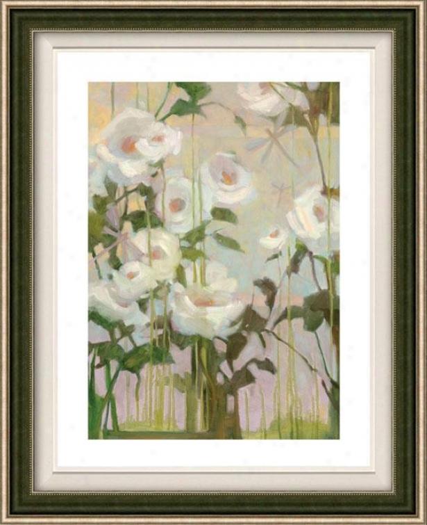 Ceremony Roses I Framed Wall Art - I, Floated Silveer
