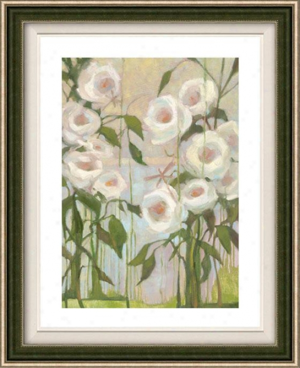 Ceremony Roses Ii Framed Wall Art - Ii, Floated Silvery
