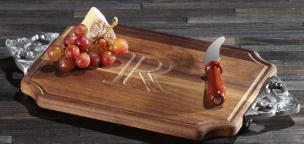 Chablis Cutting Board - Scallop/walnut, Y