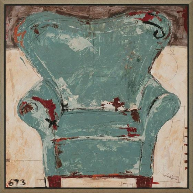 """chair Fdamed Wall Art - 42""""square X 2""""d, Teal"""