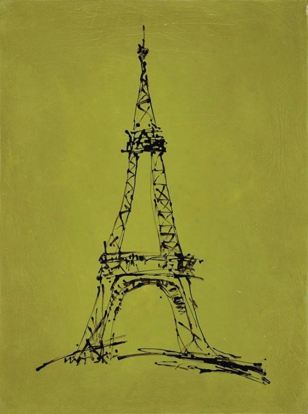 """""""chartreuse Eiffel - 40""""""""hx30"""""""",w Green"""""""