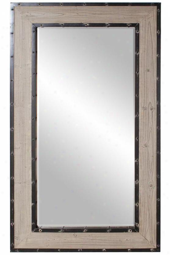 Chatham Wall Mirror - 56hx33w, Brown