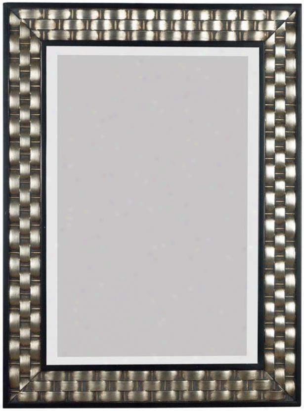 """""""checkers Wall Reflector - 38""""""""hx28""""""""w, Silver"""""""