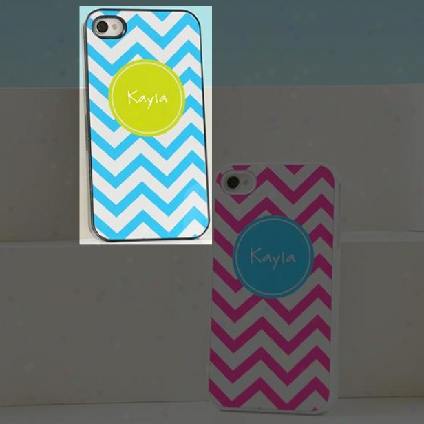 Chevron Iphone  Case - 4hx2w, Negro