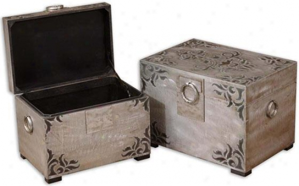 Chiavari Boxes - Set Of 2 - Set Of 2, Black