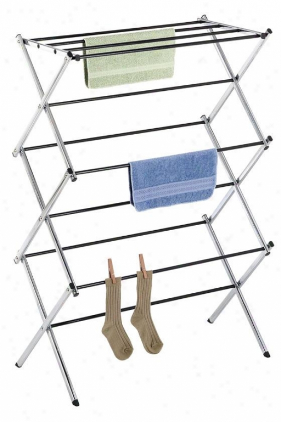 """chrome Drying Rack - 42""""hx30""""wx15""""d, Silver Chrome"""