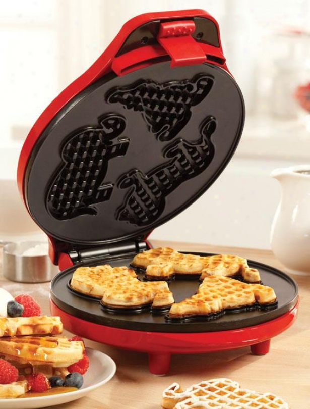 """""""circus Waffle Maker - 4.5""""""""""""hx9""""""""wx12""""""""d, Red"""""""