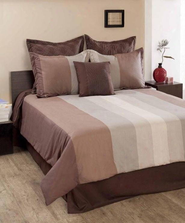Citadel Comforter Set - King, Maroon