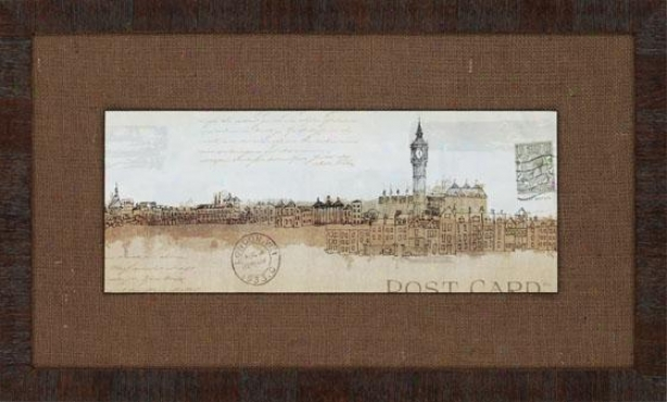 Cities Framed Wall Art - Set Of 2 - Set Of Two, Brown