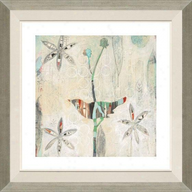 """city Bird Setting Framed Wall Art - 32""""hx32""""w, Floated Silver"""