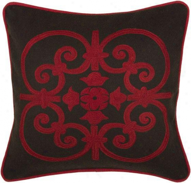 """claire Pillow - 18""""x18"""", Red"""