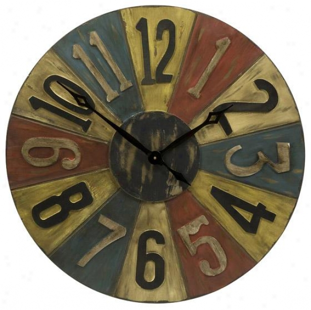 Clarke Game Piece Wall Clock - 30hx30w, Multi