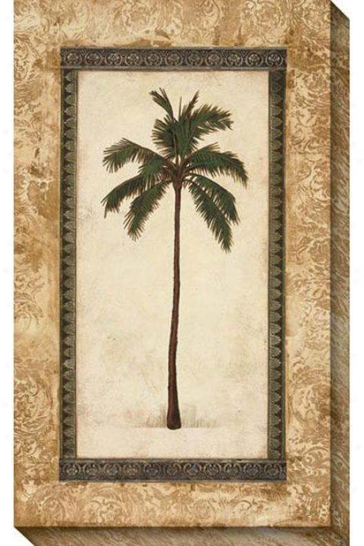 Classic Palm I Canvas Wall Art - I, Beige