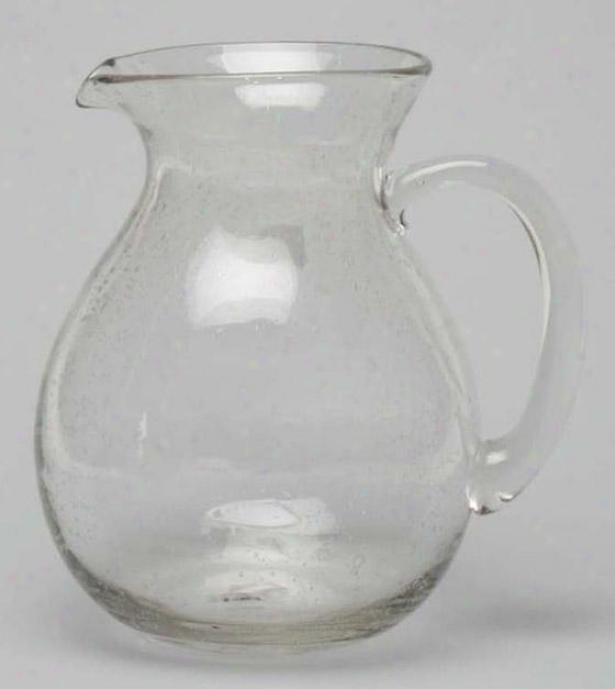 """clear Bubble Glass Pitcher - 9""""hx8""""diameter, Clear"""