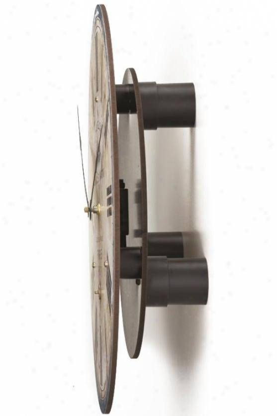 Clock Wall Riser - Long Pendulum Wall Riser, Brown