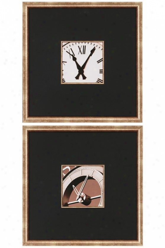 Clocks Ii Wall Att - Set Of 2 - Set Of 2, Black