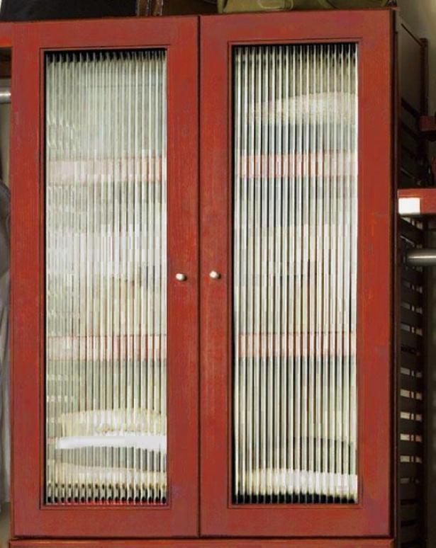 """""""closet System Deluxe Minaret Door Kit - 34""""""""hx16""""""""w, Red"""""""
