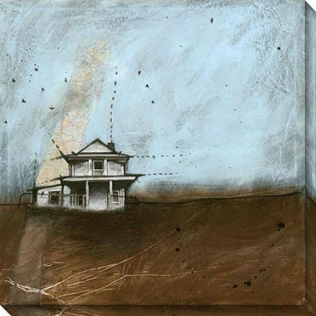 Clouds Over Kansas I Canvas Wall Art - I, Blue
