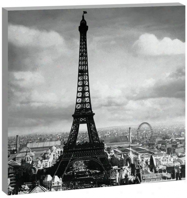 Clouds Over Paris Wall Art - 42hx42wx1.5d, Black And White